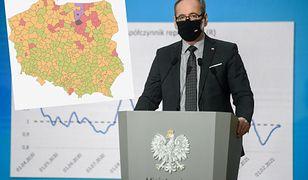 Koronawirus i wzrost zakażeń. Minister krytykuje turystów z Krupówek, ale w statystykach przoduje inny region