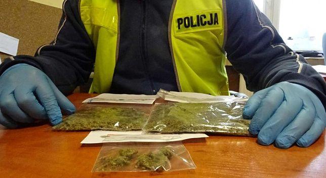 Policja przy zatrzymanym znalazła marihuanę.