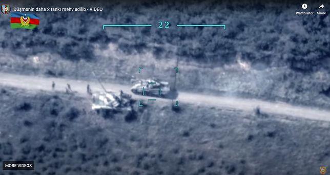 Ujęcie z drona wojnsk Azerbejdżanu