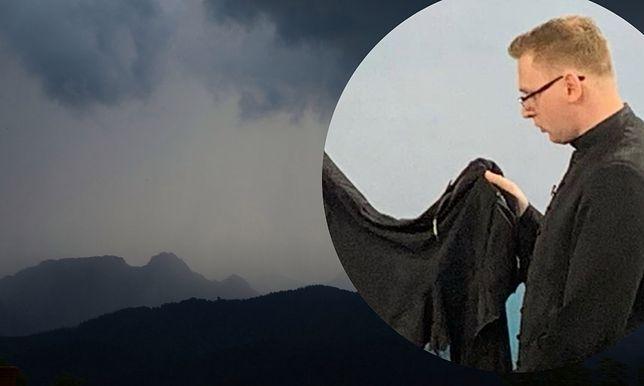 Burza w Tatrach rozpętała się 22 sierpnia. Ksiądz pokazał, co zostało z jego ubrania