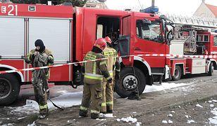 Pożar w Pustelni Niepokalanów.  W akcji 20 jednostek straży