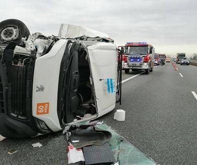 Wypadek na A1 pod Tczewem. Są ranni.