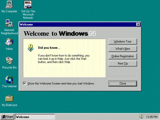 Witamy w systemie Windows 95!