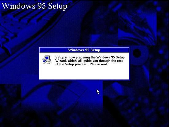 Instalator Windows 95