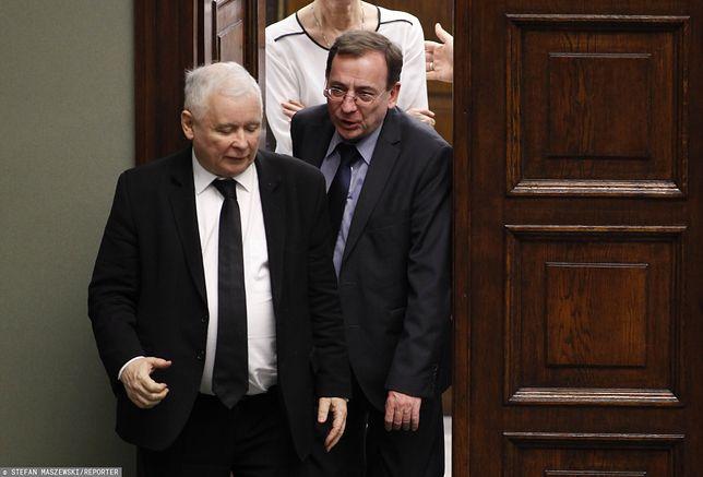 Jarosław Kaczyński i Mariusz Kamiński w Sejmie.