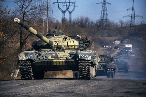 Kolumna pancerna separatystów w Donbasie