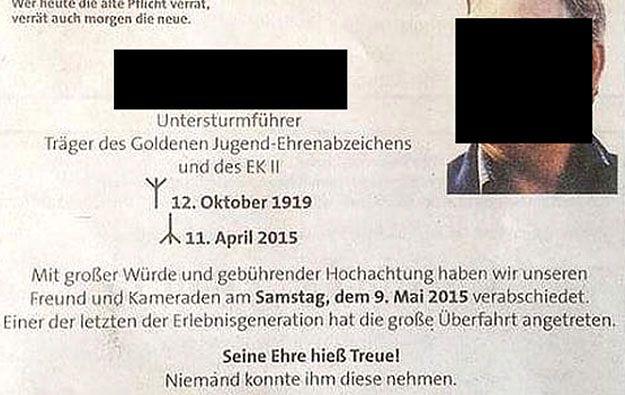Austriacka gazeta przeprasza za nekrolog esesmana