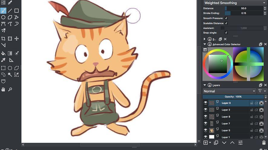 Krita 3.1 – jeszcze więcej animacji i w końcu OpenGL na macOS
