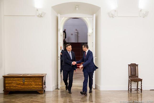 Spotkanie prezydenta Andrzeja Dudy i premiera Mateusza Morawieckiego ws. marszu 11 listopada.