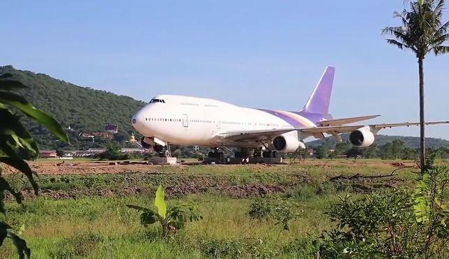 Opuszczony Boeing 747 w barwach narodowego przewoźnika Thai Airways