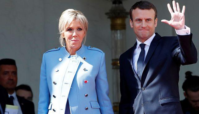"""TYLKO U NAS! Francuzi o wieku Brigitte Macron: """"Nie ma znaczenia, ile ma lat"""""""
