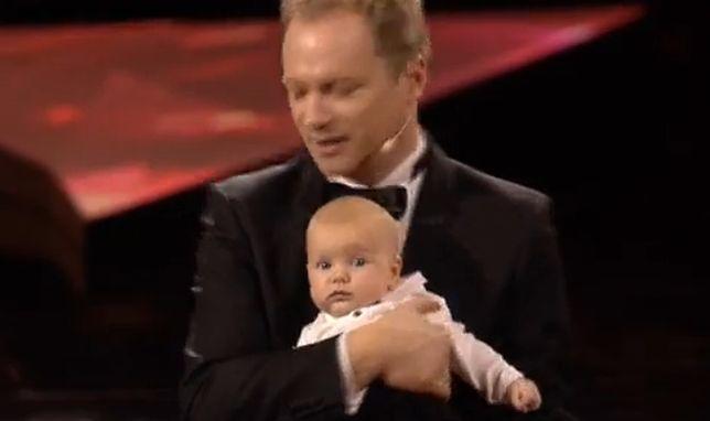 Maciej Stuhr z synem