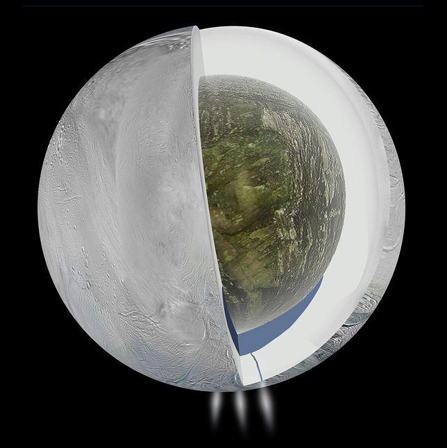We wnętrzach Enceladusa znajdują się ogromne oceany