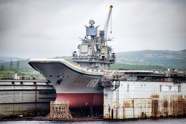 Podczas niedawnych napraw Admirała Kuzniecowa doszło do katastrofy