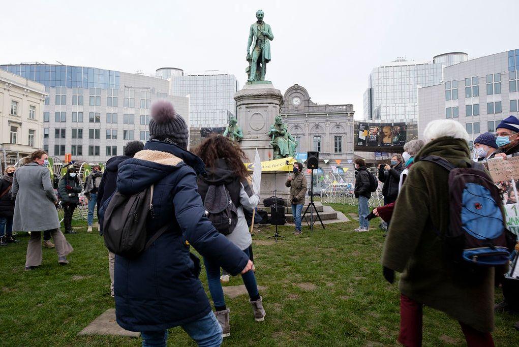 """Jerusalema"" podczas demonstracji ""Rise for Climate"" w Brukseli"