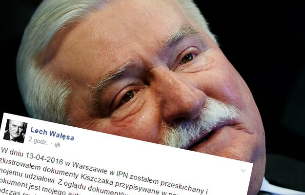 Lech Wałęsa opublikował post, w którym przyznaje, że tylko jeden z dokumentów IPN jest prawdziwy
