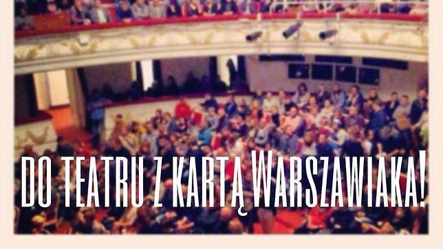 Z Kartą Warszawiaka taniej do teatru