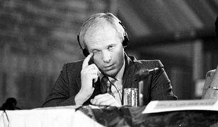 Janusz Waluś podczas przesłuchania - zdjęcie archiwalne.