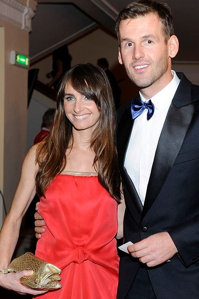 Mateusz Kusznierewicz z żoną