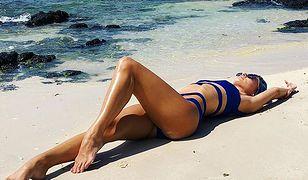 Izabela Janachowska w niebieskim bikini. Ależ figura!