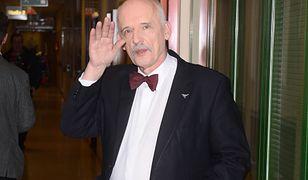 Janusz Korwin-Mikke wybrał się na wycieczkę rowerową