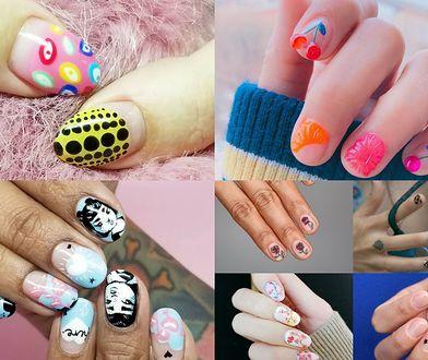 Gdy nabierzemy wprawy w tworzeniu wzorów na paznokcie, będziemy w stanie uzyskać bardziej złożone zdobienia (instagram.com, Fot: tamaradilullo i nail_unistella)