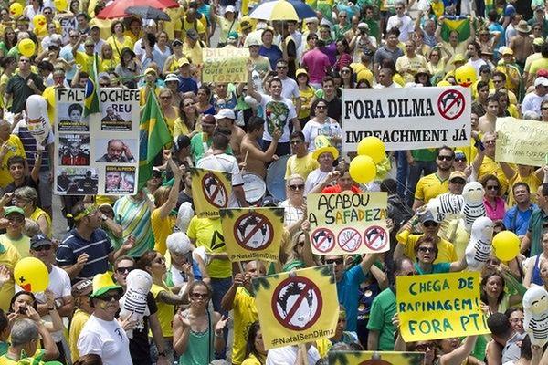 Wielotysięczne demonstracje przeciwników brazylijskiej prezydent Rousseff
