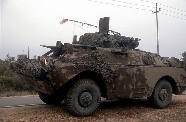 Zmodyfikowana polska wersja samochodu opancerzonego BRDM-2