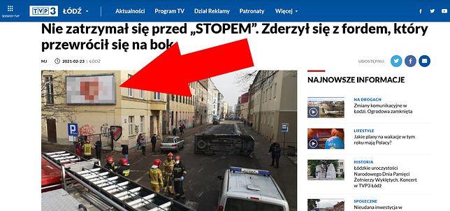 Tak został potraktowany plakat organizacji pro-life w tekście TVP Łódź
