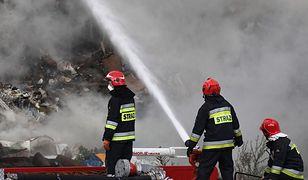 Koszarówka. Pożar wysypiska śmieci na Podlasiu