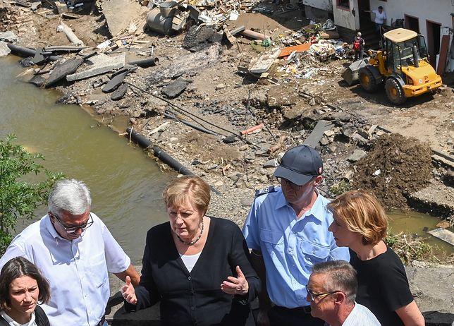 Powodzie w Niemczech. Angela Merkel o szybkiej pomocy