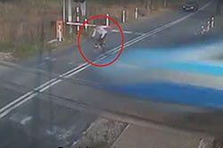 Rowerzysta wjechał w Pendolino. Został ukarany