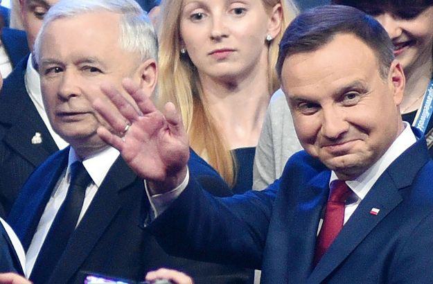 Jarosław Kaczyński i prezydent Andrzej Duda