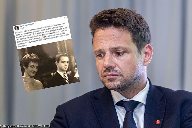 Rafał Trzaskowski żegna swoją mamę