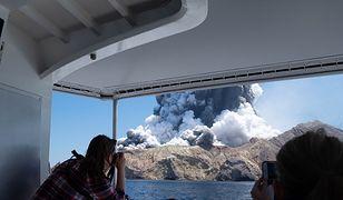 Nowa Zelandia. Erupcja wulkanu-wyspy White