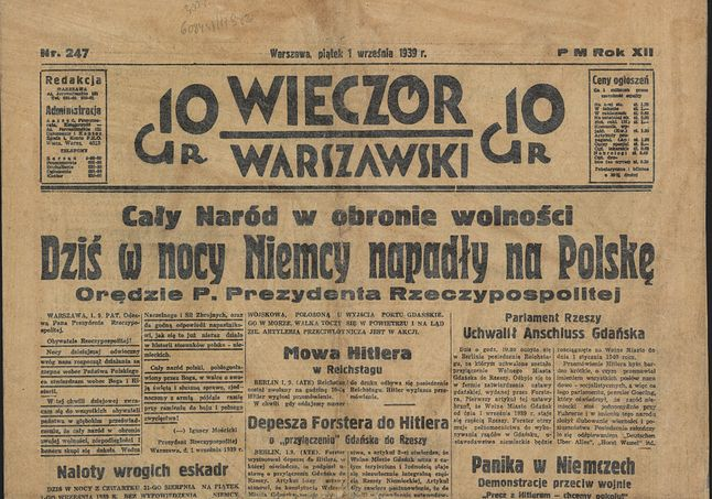 Wieczór Warszawski z dnia 1 września Biblioteka Narodowa