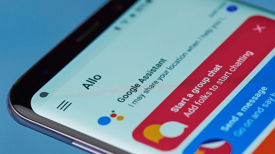 Menu aplikacji Google Asystenta z depositphotos