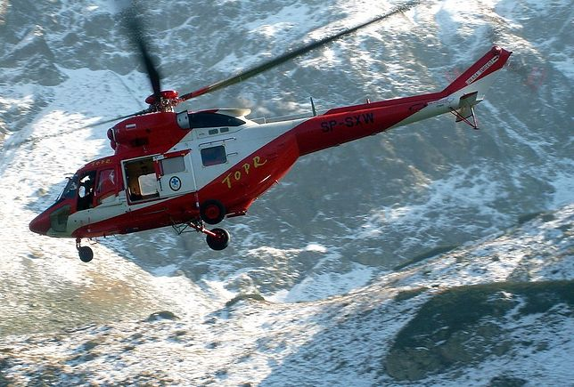 Akcja ratunkowa w Tatrach. Ranny turysta