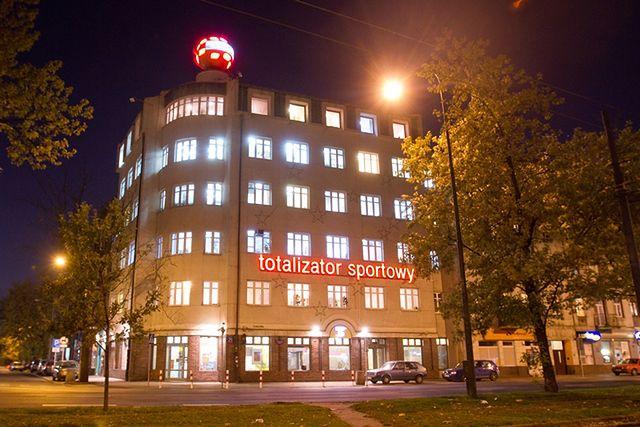 Siedziba Totalizatora Sportowego znajduje się w Warszawie przy ul. Targowej 25