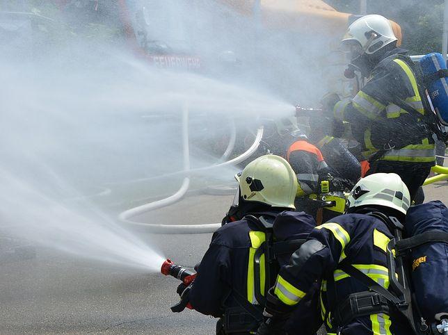 Po wypadku na trasie S7 jedna z biorących w nim udział ciężarówek stanęła w ogniu