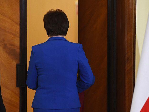 Premier Ewa Kopacz po konferencji, na której ogłosiła rządowe dymisje