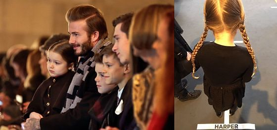 Rodzina Beckhamów wspiera Victorię na NYFW