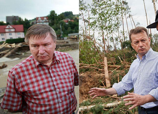 Jerzy Miller oraz Mariusz Błaszczak