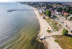 Złota polska jesień nad Bałtykiem. Piękny poniedziałek na wybrzeżu