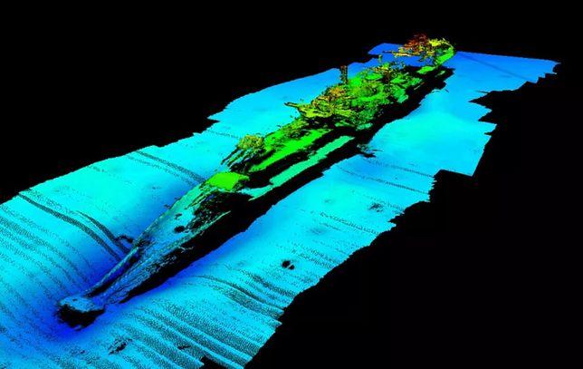 Zdjęcie wraku wykonane przez ROV