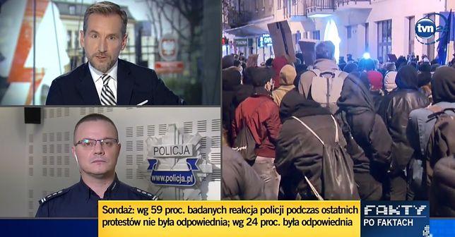 Rozmowa Piotra Kraśki z inspektorem Mariuszem Ciarką wzbudziła zainteresowanie widzów.