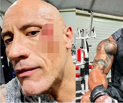 Dwayne Johnson miał wypadek na siłowni. Nagrał krwawe wideo