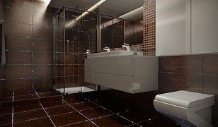 Oświetlenie LED montowane w fugach wydobywa piękno łazienki i wprowadza atmosferę relaksu.