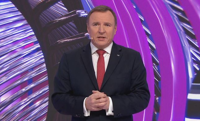 Jacek Kurski na ceremonii otwarcia Eurowizji Junior 2020