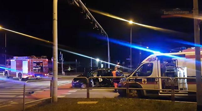 Wypadek na skrzyżowaniu w Łodzi